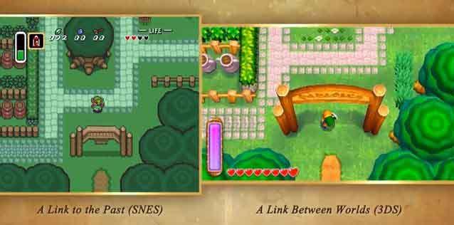 SNES e 3DS lado a lado.