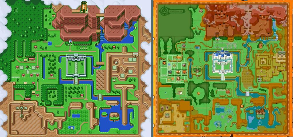 Hyrules de 1991 e 2013