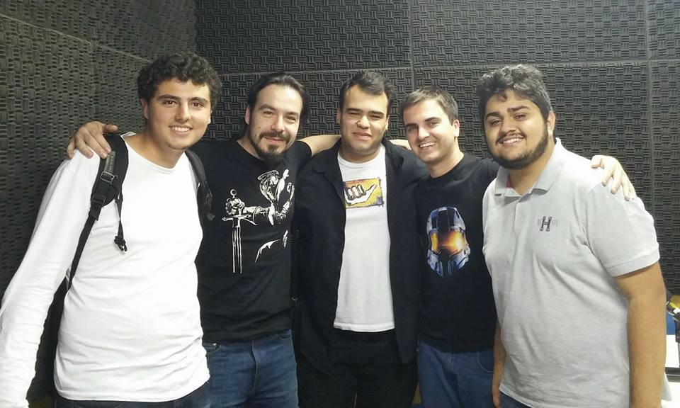 Da esquerda para direita: Matheus, Átila, Diego, Victor e Leandro