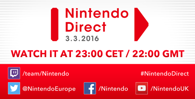 Novo Nintendo Direct acontecerá nesta Quinta-feira (03/03)