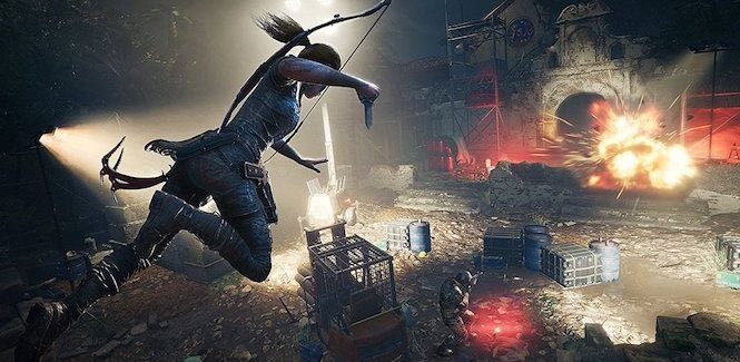 Shadow of Tomb Raider rodando na GeForce 1050