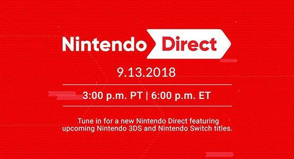 Nintendo Direct acontecerá no dia 13 de Setembro