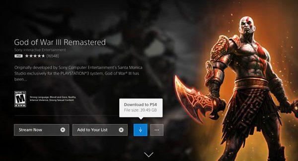 PlayStation Now agora suporta download de jogos de PS4 e PS2