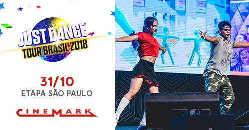 Ubisoft e Cinemark revelam datas do Just Dance Tour Brasil 2018