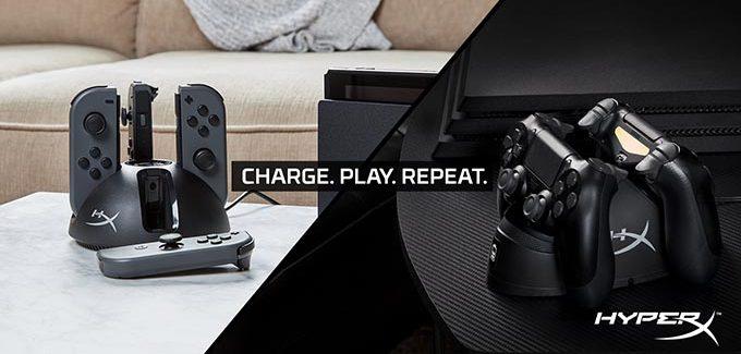 HyperX lança estações de carregamento de baterias para controles de videogames