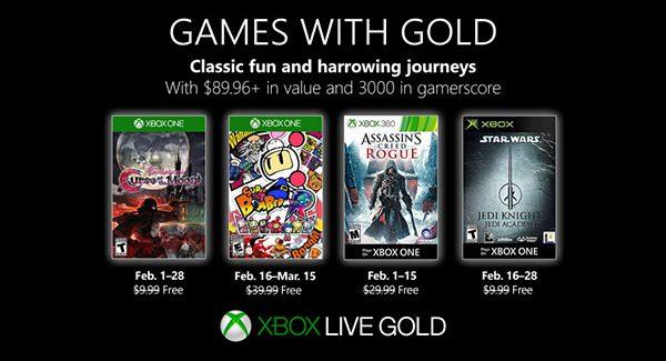 Confira os novos jogos adicionados na Xbox Live Gold em Fevereiro de 2019