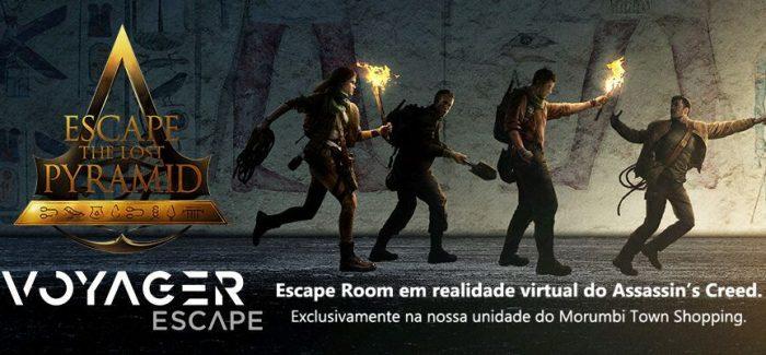 Voyager inaugura escape room em VR no Brasil com parceria exclusiva da Ubisoft