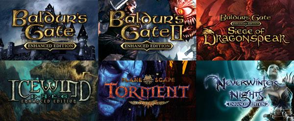 Baldur's Gate I, II e Siege of Dragonspear; Icewind Dale, Planetscape Torment e Neverwinter Nights chegarão aos consoles em 2019