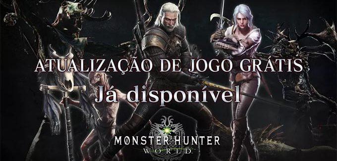 Geralt de Rívia chega ao universo de Monster Hunter: World