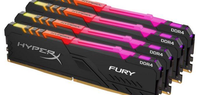 HyperX lança novas memórias FURY DDR4 RGB