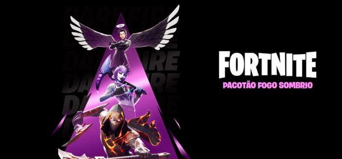 WB Games e Epic Games lançam mundialmente o Fortnite: Pacotão Fogo Sombrio